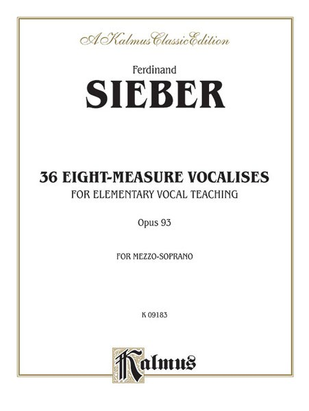 36 Eight-Measure Vocalises for Elementary Teaching, Opus 93