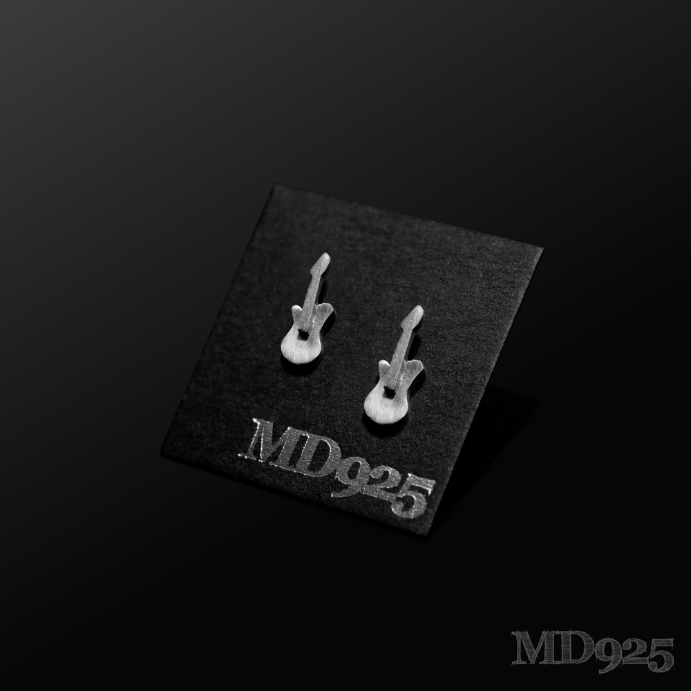 Sterling Silver Earring Elec/Guitar M
