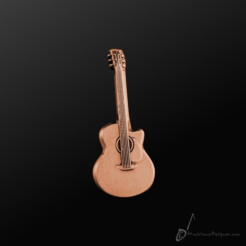Acoustic Guitar Pin Copper