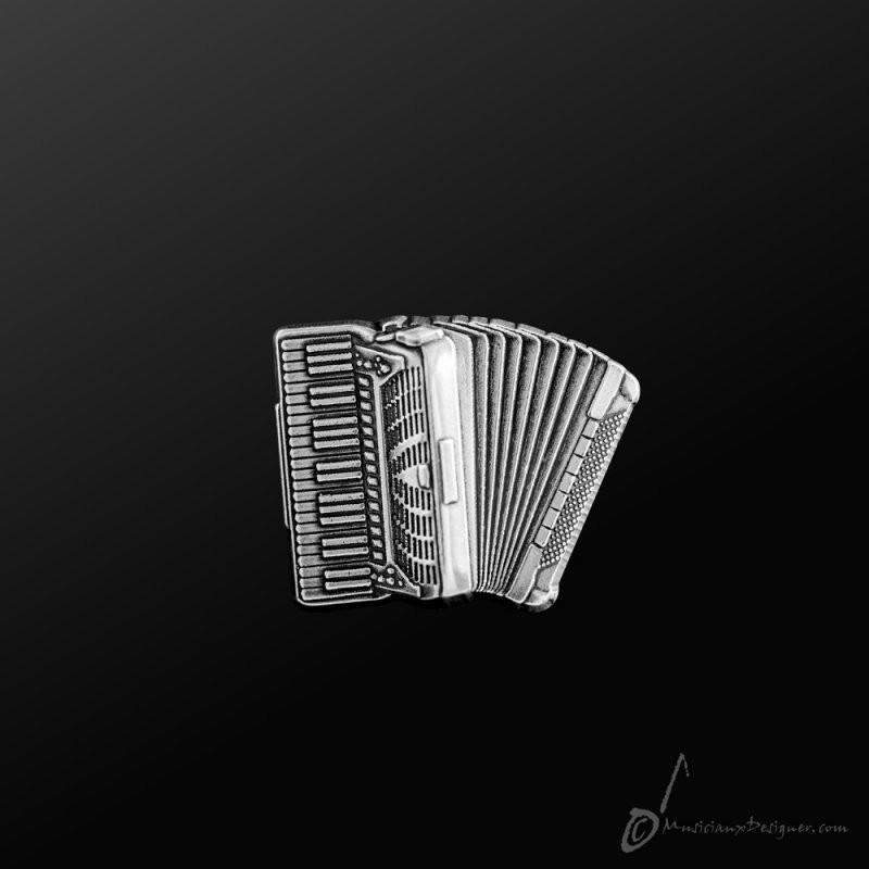 Accordion Pin Silver