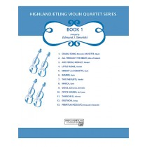 Highland/Etling Violin Quartet Series: Book 1