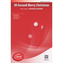 30 Second Merry Christmas SATB A Cap