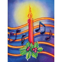 Greeting Cards: Christmas Candle (Pack of 12)
