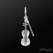 Sterling Silver Charm Violin