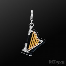 Sterling Silver Charm Harp