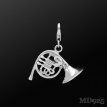 Sterling Silver Charm French Horn