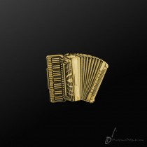 Accordion Pin Gold