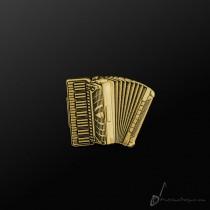 Accordion Pin Gold