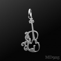 Sterling Silver Pendant Violin M