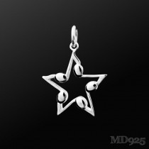 Sterling Silver Pendant of the Night M