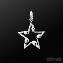 Sterling Silver Pendant of the Night S