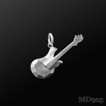 Sterling Silver Pendant Electric Guitar