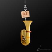 Wooden Strap Tuba 3D