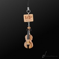 Wooden Strap Violin With Strings